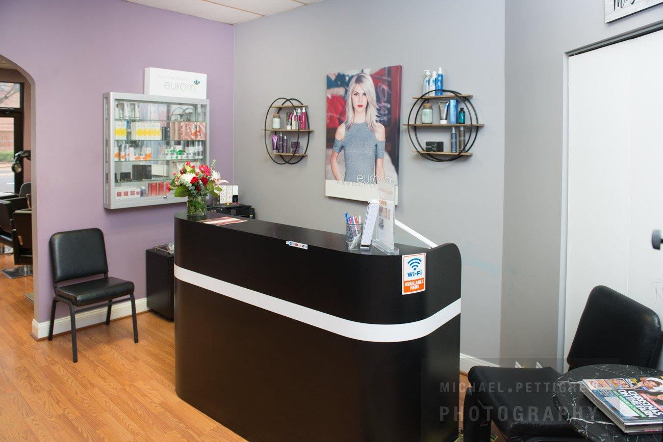 Hair Salon photography front desk in Falls Church, VA