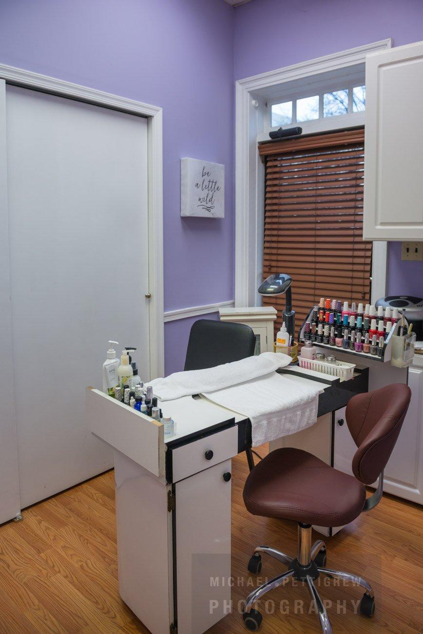 Hair Salon photography nail station in Falls Church, VA