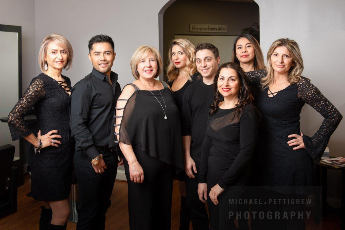 Hair Salon photography team members in Falls Church, VA
